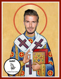 David Beckham LA Galaxy Manchester United Real Madrid Celebrity Prayer Candles