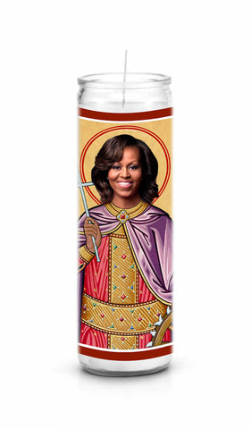 Michelle Obama Saint Celebrity Prayer Candle