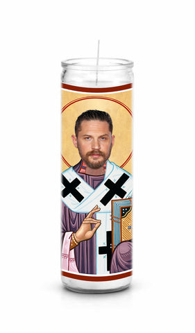 Tom Hardy Saint Celebrity Prayer Candle