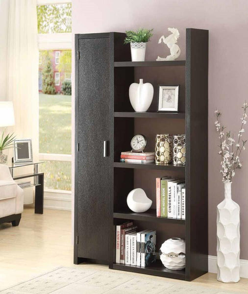 Cappuccino Bookcase with Storage