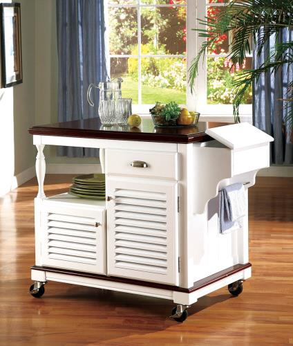 CO-White Kitchen Cart
