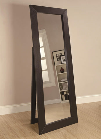 Coaster Black Accent Floor Mirror