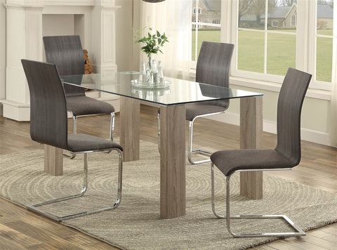 Zeba 5pc Washed Weathered Dining Set