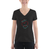 Women's Fashion Deep V-neck Tee - Happyboca