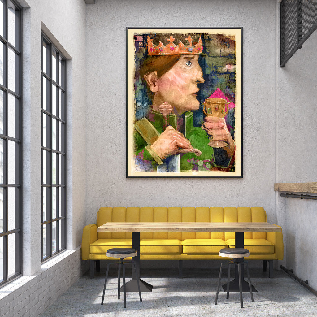 King Florabundant Fine Art Print - Luxurious Walls