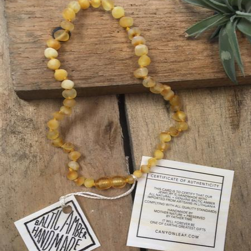 CanyonLeaf -  Raw Baltic Amber Butterscotch Necklace