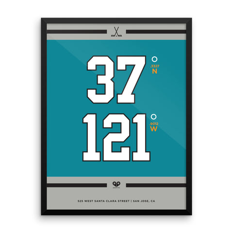 San Jose Sharks <br>Framed Poster