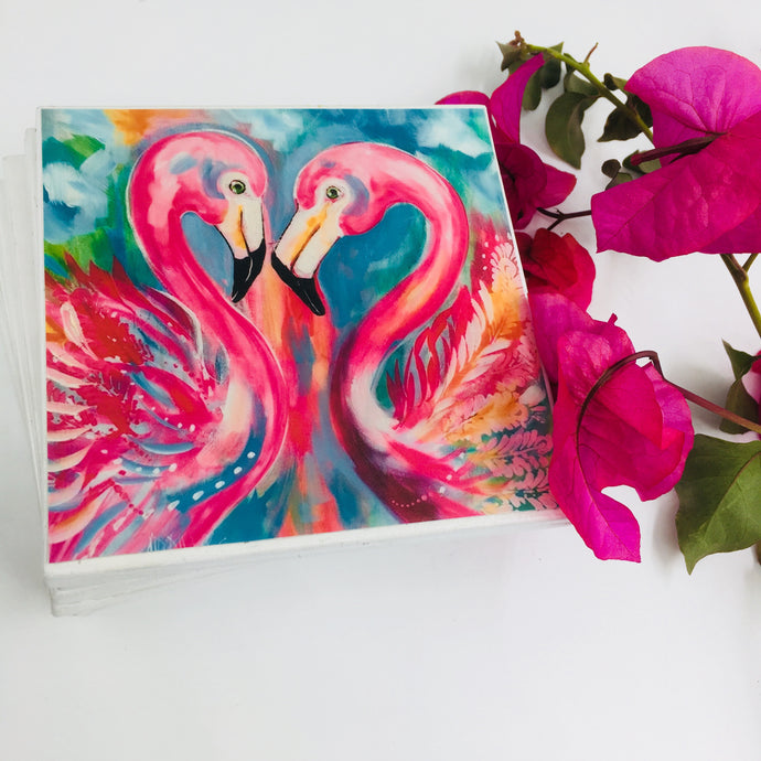 Art by Amanda Brooks (Flamingo Passion) - Set of 6
