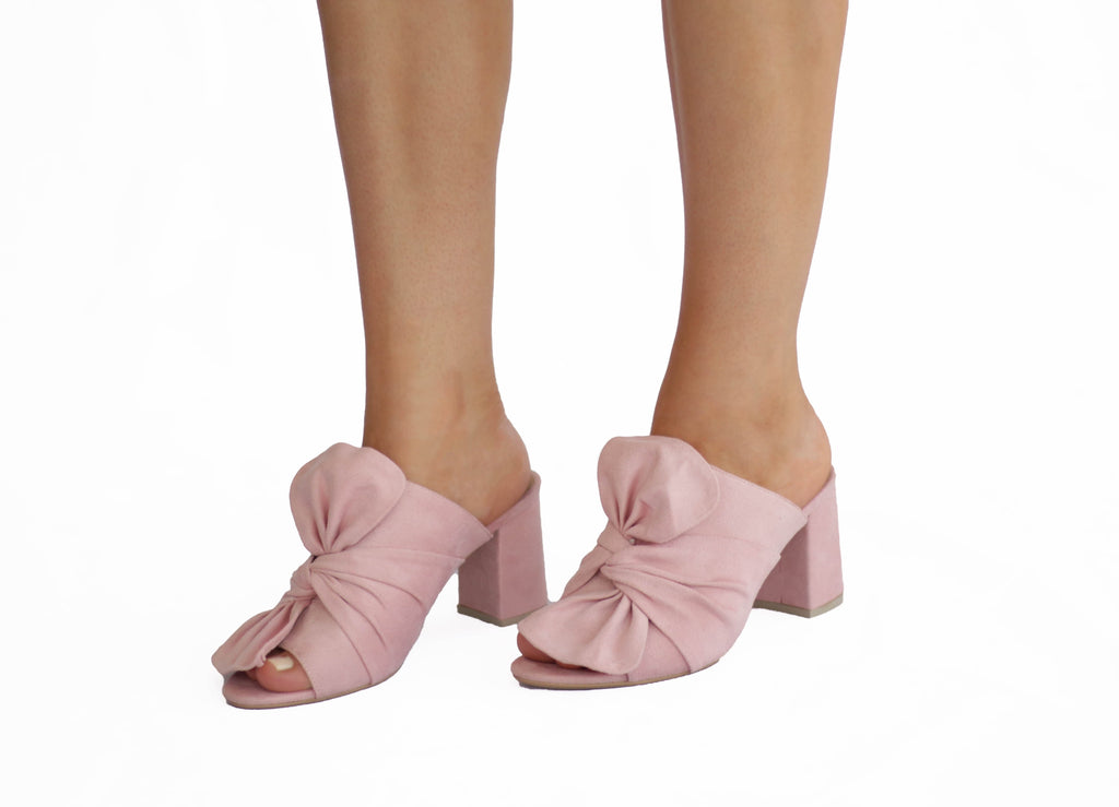 Aly: Pink Mules Shoes
