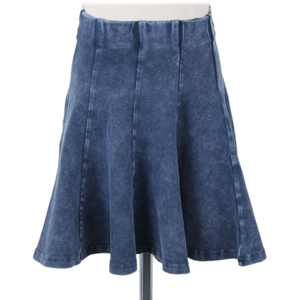 Kiki Riki Girl's Mineral Wash Faux Denim Panel Skirt 41464 - Modest Necessities