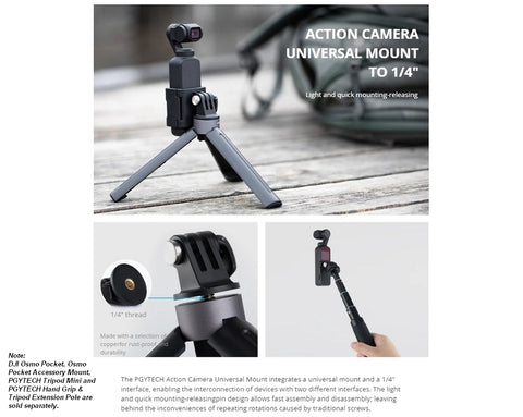 PGYTECH Universal Mount Kit (Osmo Pocket)