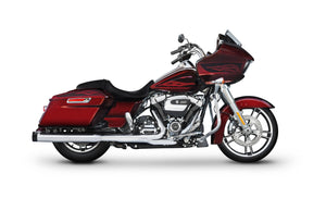 "All Touring Models Milwaukee Eight - 4"" Slip-On Mufflers Chrome With Black End Caps"