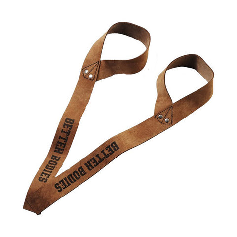 1,5 IN. LEATHER STRAPS - BROWN | BETTER BODIES | Outletintegratori.com