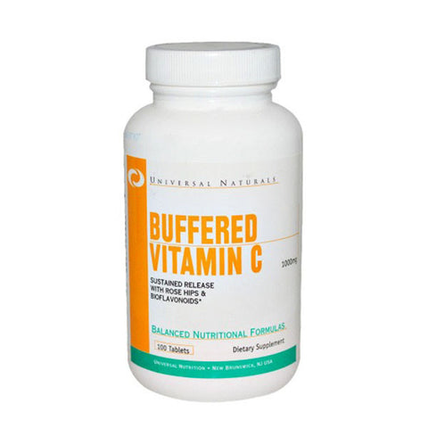 BUFFERED VITAMINA C 100 Cpr | UNIVERSAL | Outletintegratori.com