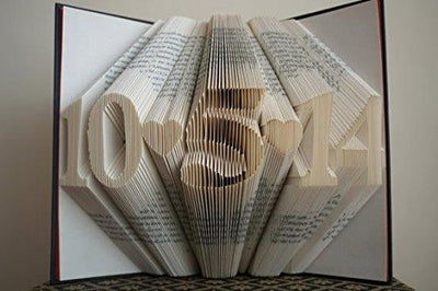 Folded Book Art Paper Anniversary Gift for Him or Her - BOSTON CREATIVE COMPANY