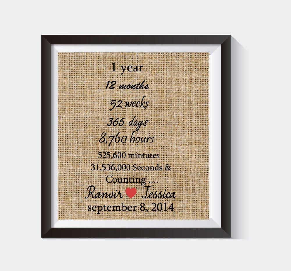 Best Selling Product - First Wedding Anniversary /1st Anniversary Gift / Customized Gift /Unique Gift # 012 - BOSTON CREATIVE COMPANY