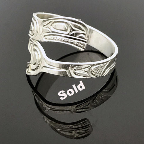 Sterling Silver Orca Wrap Ring