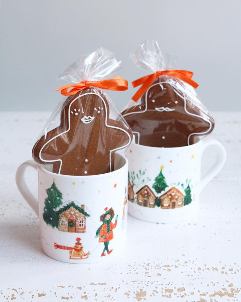Mug and Gingerbread Gift Set