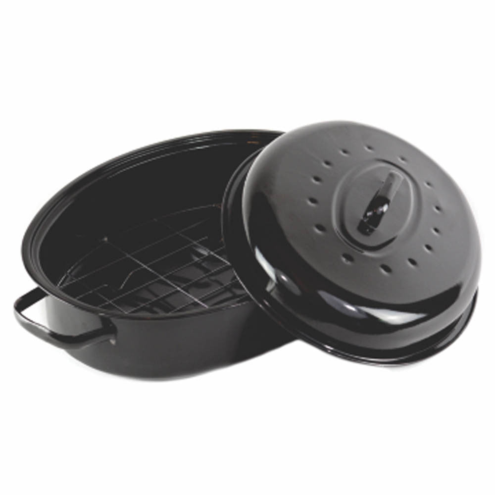 Gourmet Chef Non Stick Coating Oval Roaster With Metal
