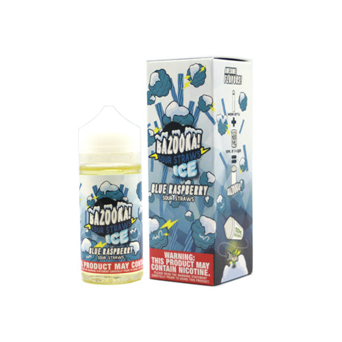 Bazooka Sour Straw (BLUE RASPBERRY ICE) 100ML