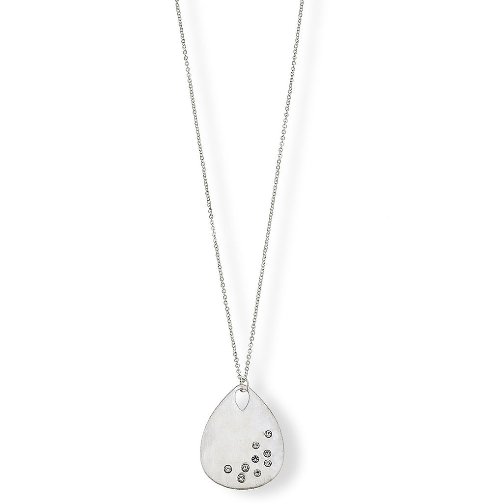 Carolina Silver Teardrop Pendant Necklace