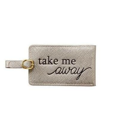 Mud Pie Pewter Luggage Tag