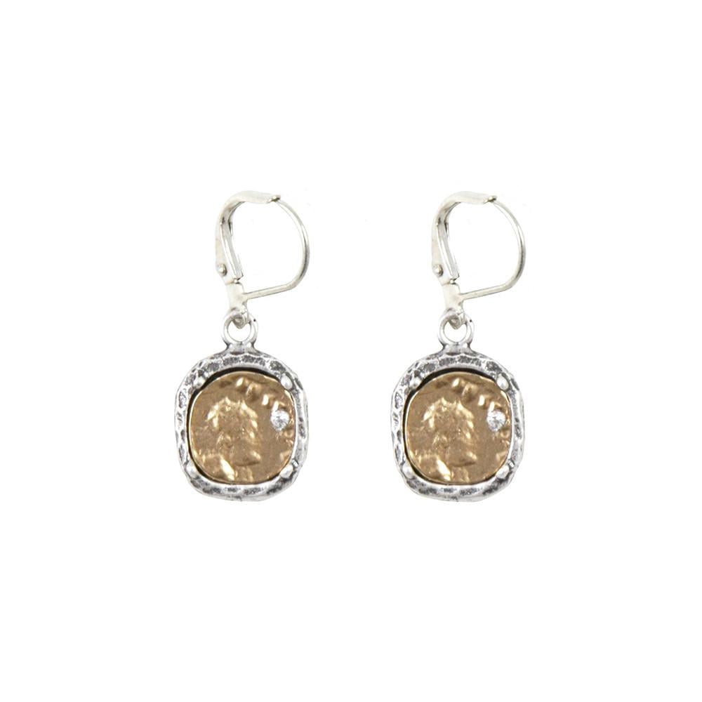 Tat2 Designs Pavia Coin Earrings In Silver
