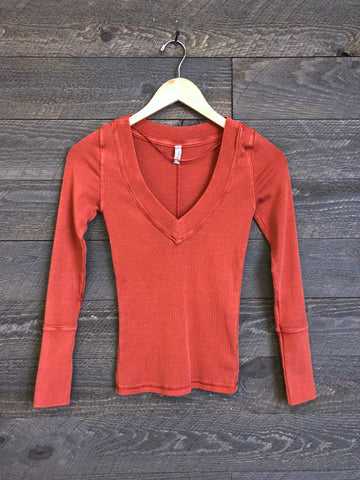 Free People 'Lily' Layering Top In Terracotta