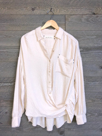 Free People Surplice Button-Down In Ivory