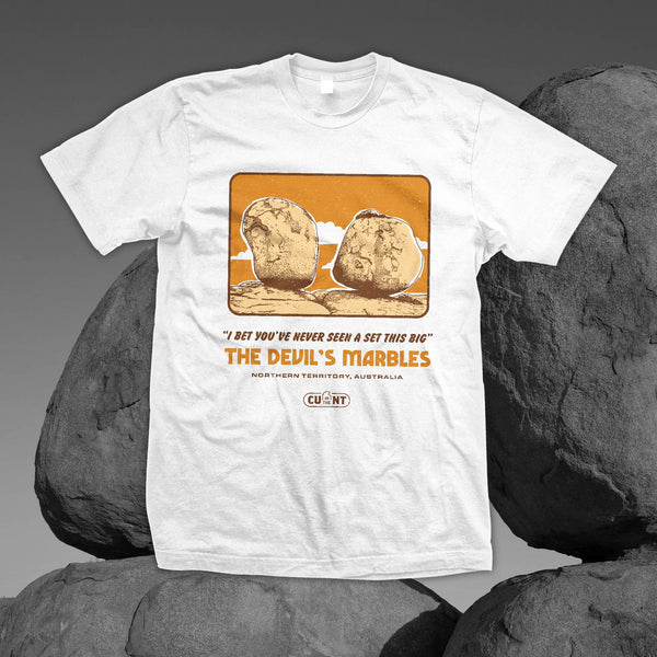 Destination Devils Marbles - White Tee