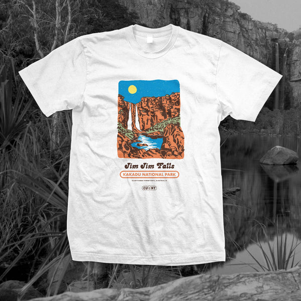 Destination Jim Jim Falls - White Tee