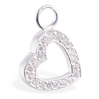 TummyToys® Paved Vintage Heart Clasp