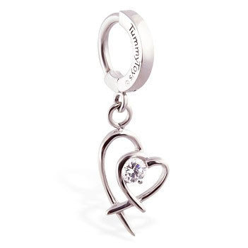 TummyToys® Double Heart Surgical Steel Clasp
