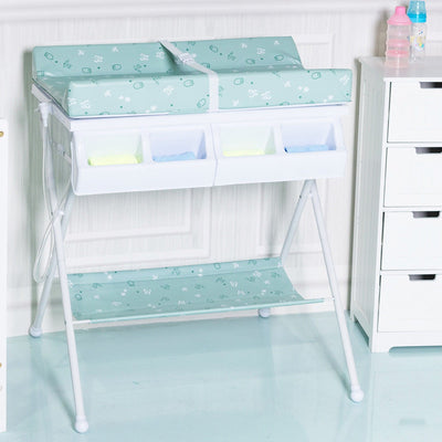 Infant Baby Bath Changing Table Diaper Station