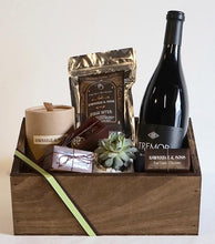 Hawkridge & Sons x Foxgloves & Folly Gift Box - red wine and succulent pot