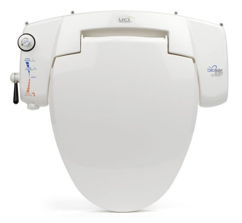BIO BIDET BB-i3000 NON-ELECTRIC Universal Fit Toilet Seat | Jet Wash Hygiene | Side Panel Controls