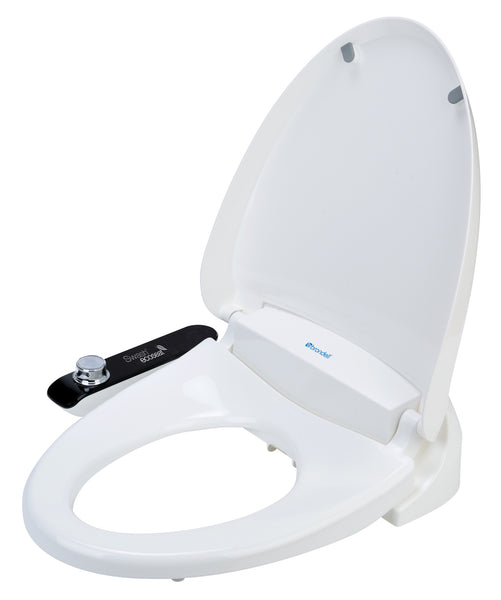 BRONDELL BIDET ELONGATED Swash Eco 100 Toilet Seat Non-electric, No Batteries, Hygiene Cold Water Wash