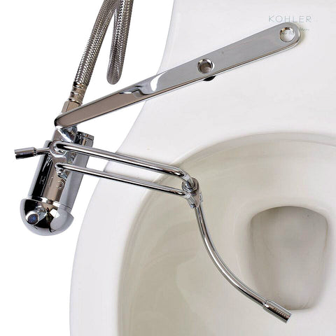 GoBIDET Bidet Non-Electric Toilet Attachment, Chrome Finish, Universal Fitting, EZ Install GB-2003-C