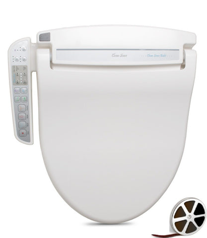 CLEAN SENSE BIDET ROUND 1500RW Electronic Toilet Seat, Air Dry, On Demand Continuous Warm Water, Side Panel Controls