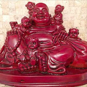 Buddha Statue Smiling with Babies -New Earth Gifts