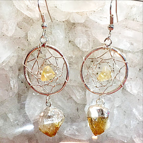 Citrine Dream Catcher Earrings - New Earth Gifts