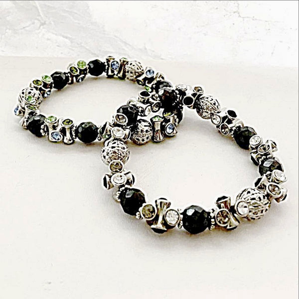 Hematite and Crystal Magnetic Bracelet - New Earth Gifts