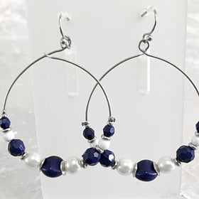 Beaded Hoop Earrings | New Earth Gifts