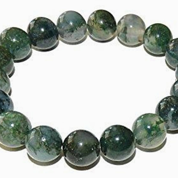 Moss Agate Power Bracelet for New Beginnings-6mm - New Earth Gifts