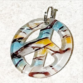 Murano Glass Peace Symbol Pendants - New Earth Gifts