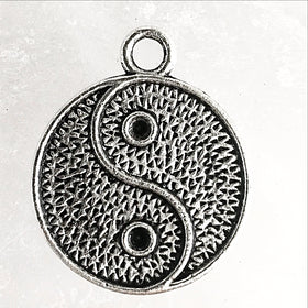 Yin Yang Pewter Charm-Pendant | New Earth Gifts