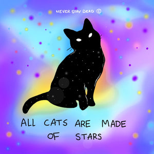All Cats Are Made Of Stars Print (8x8)