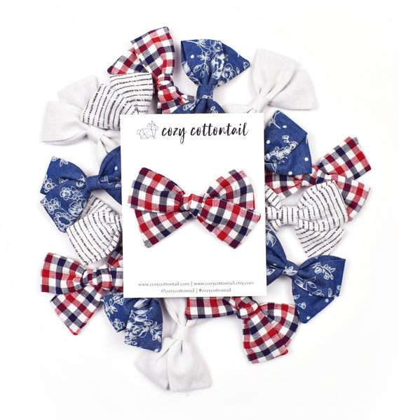 Fourth of July Bows | Cozy Cottontail