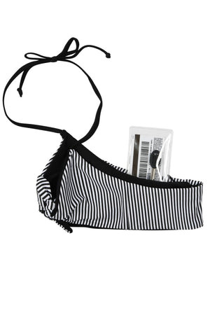 Zara Reversible Tie Front Bikini Top (Stripe/Black) - Lagoa Swimwear