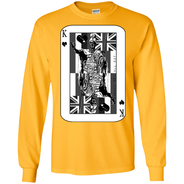 The King of Hawai'i Kamehameha (black ink) LS Ultra Cotton T-Shirt